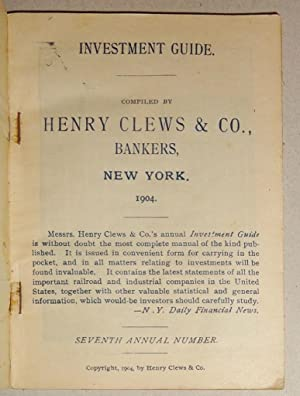 Investment Guide 1904; , Seventh Annual Number [Railroads]