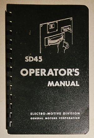 Sd45 Operator's Manual: Corporation, General Motors