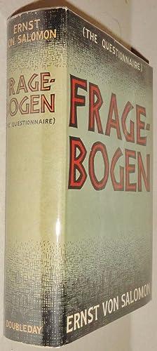 Fragebogen; The Questionnaire: Salomon, Ernst von