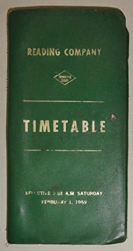 Reading Company Timetable [reading Lines] Effective Saturday February 1, 1969