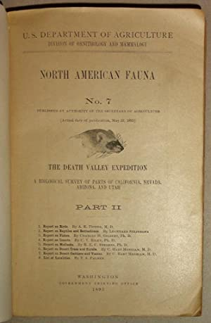 The Death Valley Expedition. A Biological Survey Of Parts Of California, Nevada, Arizona, And Uta...