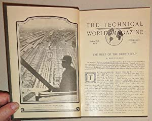 Technical World Magazine, 1910 [3 Issues Bound] Volume XII, No 6 & Vol XIII, Nos 1 & 4. February,...