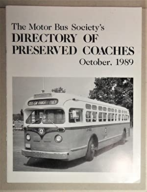 Directory of Preserved Coaches October, 1989