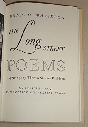 The Long Street: Davidson, Donald; Davidson, Theresa Sherrer