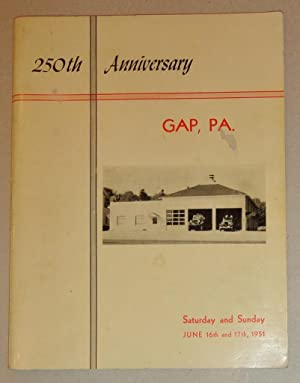 Gap, PA; 250th Anniversary-1951: 250th Anniversary Committee