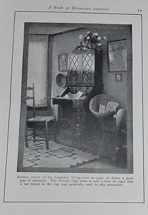 A Book of Distinctive Interiors: Vollmer, William A. (Ed)