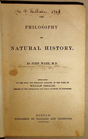The Philosophy of Natural History Prepared on the Plan and Retaining Portions of the Work by ...