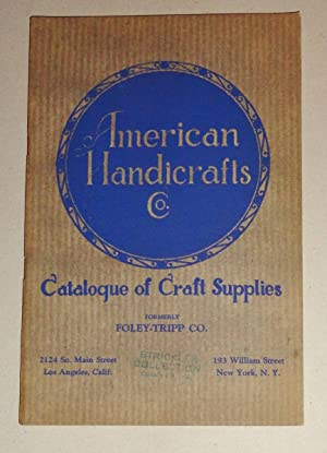 American Handicrafts Co. ; Catalog of Craft: American Handicrafts Co.