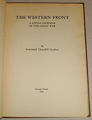 The Western Front, A Little Calendar of the Great War