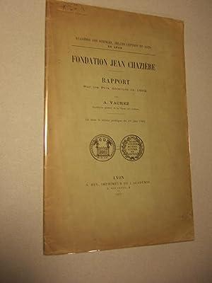 Fondation Jean Chaziere: Vachez (A.)