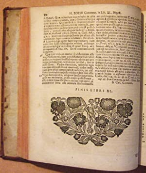 Commentarius ad Digestorum seu Pandectarum Juris Civilis Libros L: Zoesii (Henrici J. C.)