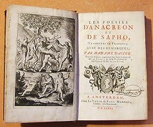 Les Poésies D'anacréon et De Sapho: Anacréon et De Sapho (traduction Madame ...