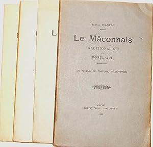 Le Mâconnais traditionaliste et populaire: JEANTON (Gabriel).