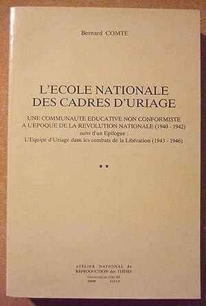 L'ecole Nationale Des Cadres D'uriage: Comte (Bernard)