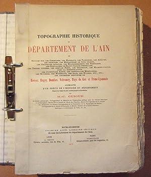 Topographie historique du département de l'Ain: Guigue (M.-C.)