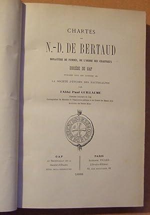 CHARTES de N.-D. DE BERTAUD monastère de femmes, de l'ordre des Chartreux - Diocese De ...