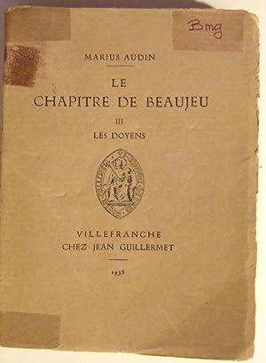 Le Chapitre De Beaujeu III: Audin (marius)