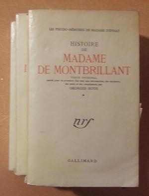 Histoire de madame de Montbrillant, les pseudos mémoires de madame d'Epinay: EPINAY (...