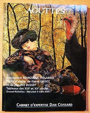 Succession Manzana-Pissarro Partie d'atelier de Pierre Grisot: Aguttes