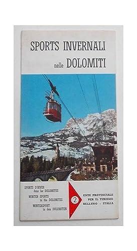 Sports invernali nelle Dolomiti.