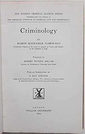 Criminology.