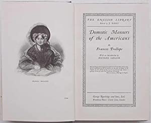 Domestic Manners of the Americans.: TROLLOPE FRANCES