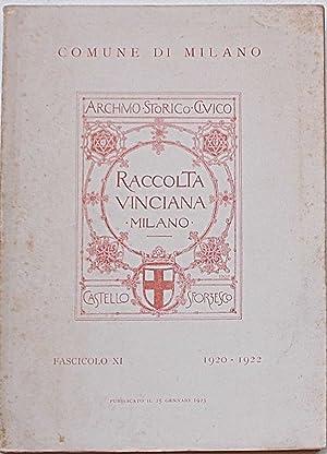 Raccolta Vinciana presso l'Archivio Storico del Comune di Milano. Castello Sforzesco. Fascicolo...