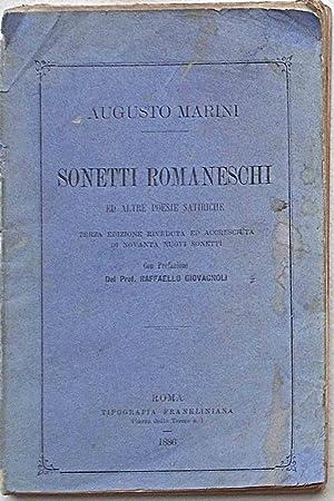 Sonetti romaneschi ed altre poesie satiriche.: MARINI AUGUSTO