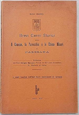 Brevi cenni storici sopra il Comune, la Parrocchia e le Chiese Minori di Caresana.: BUSSI VIRGINIO