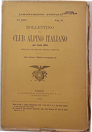 Bollettino del Club Alpino Italiano. Anno 1884. N. 51