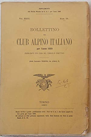 Bollettino del Club Alpino Italiano. Anno 1889. N. 56