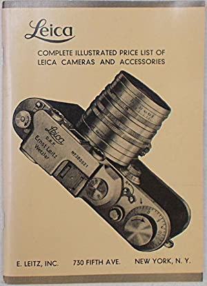 Leica. Complete illustrated price list of Leica cameras and accessories.