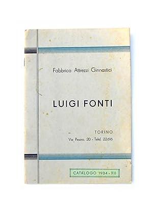 Fabbrica Attrezzi Ginnastici Luigi Fonti. Torino. Catalogo