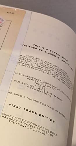 The Call - John Hersey - FIRST EDITION NEAR FINE: John Hersey