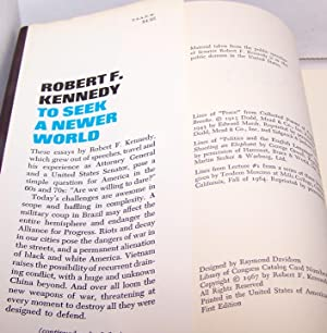 To Seek A Newer World - FIRST EDITION 1967: Robert F. Kennedy
