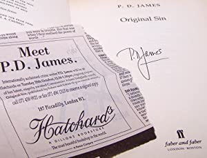 Original Sin - FLAT SIGNED by P D JAMES: James, P. D.