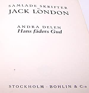 Collected Works-Jack London - Swedish 1917 - Beautiful: Jack London