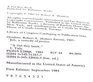 Job: A Comedy of Justice - First Edition - Robert Heinlein: Robert Heinlein