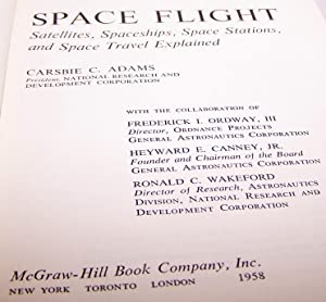 Space Flight - 1958 - Early thoughts and projections: Dr. Carsbie Adams