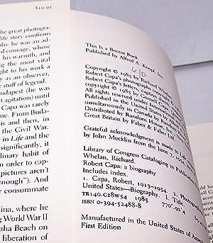 Robert Capa - A Biography - First Edition 1985: Richard Whelan