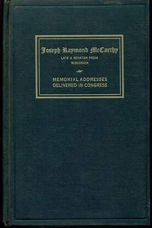 Senator Joseph McCarthy - Memorial Services Held: McCarthy, Joseph Raymond
