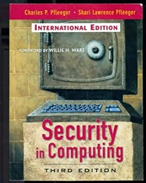 Security in Computing - International Edition -: Pfleeger, Charles F.;