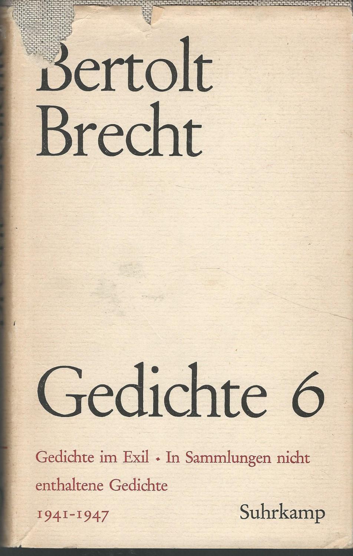 Gedichte 1941 1947 Gedichte Im Exil In