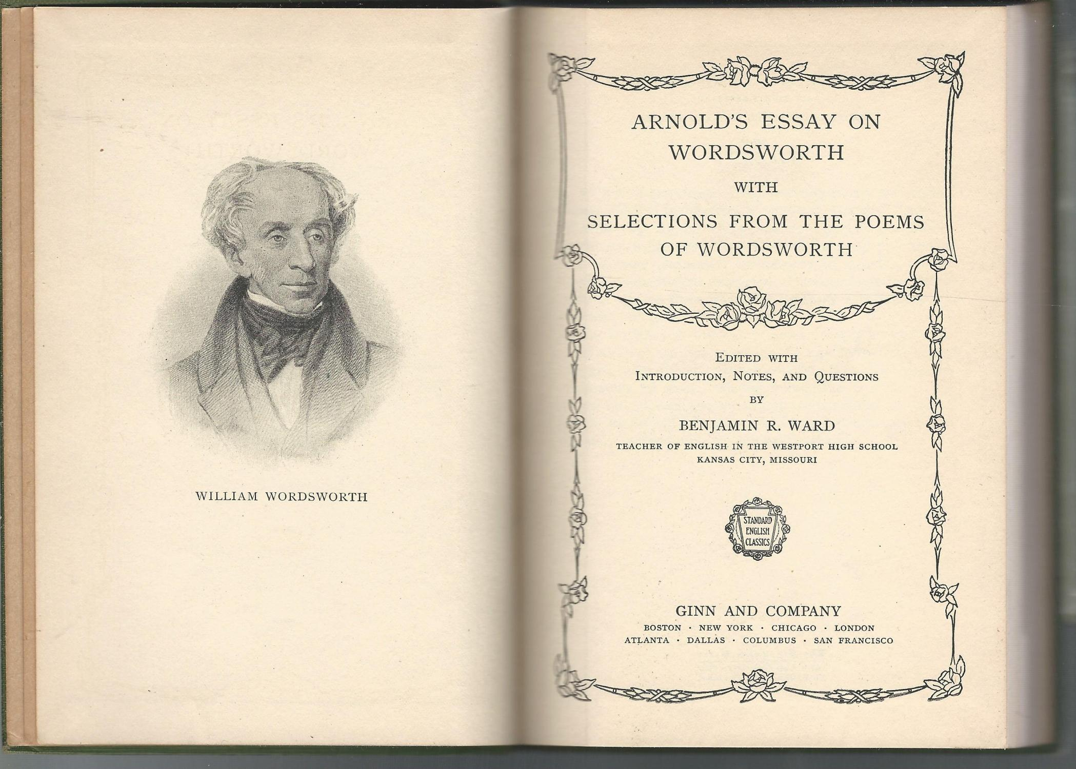 poems of wordsworth by matthew editor arnold abebooks