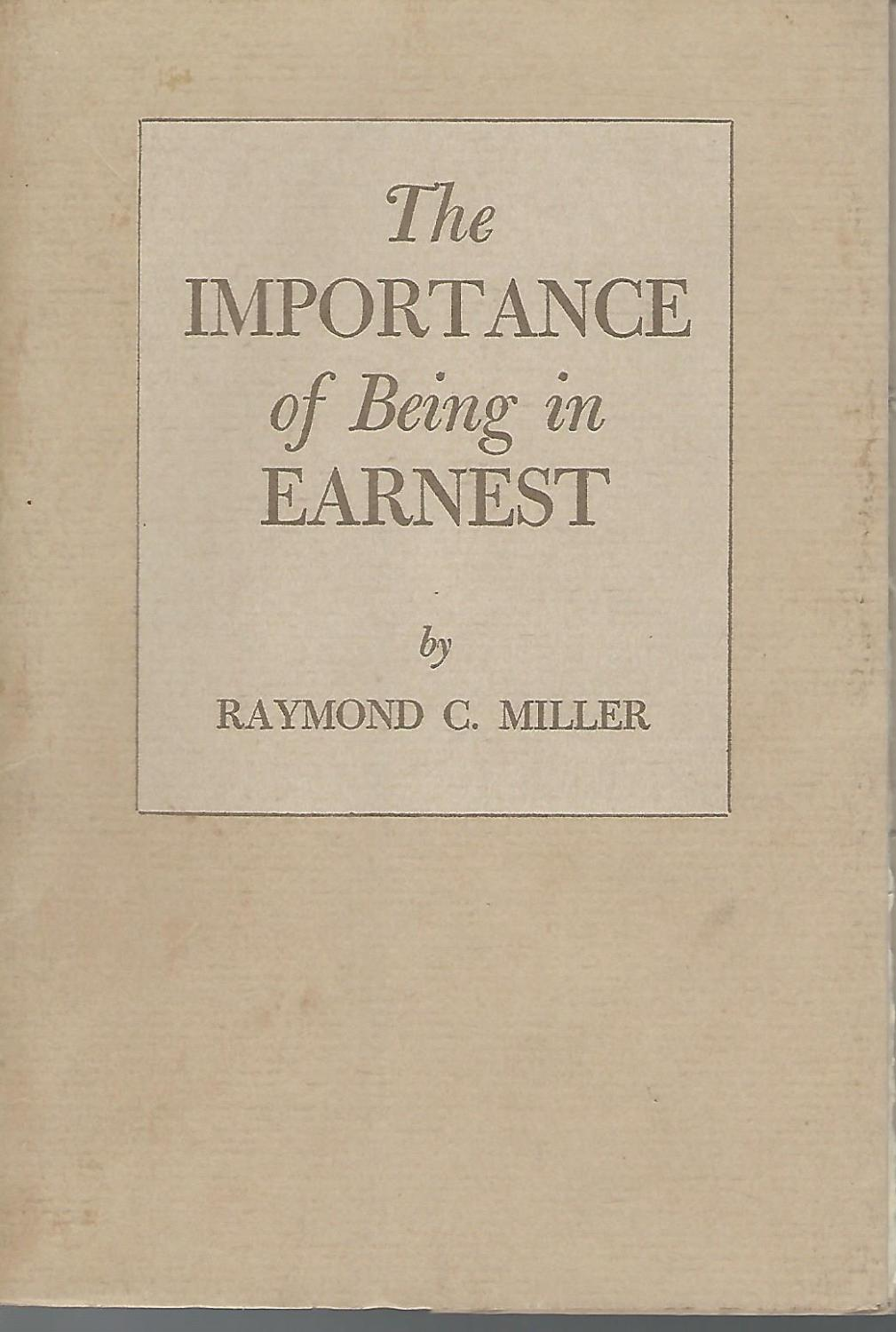 importance being earnest first edition abebooks