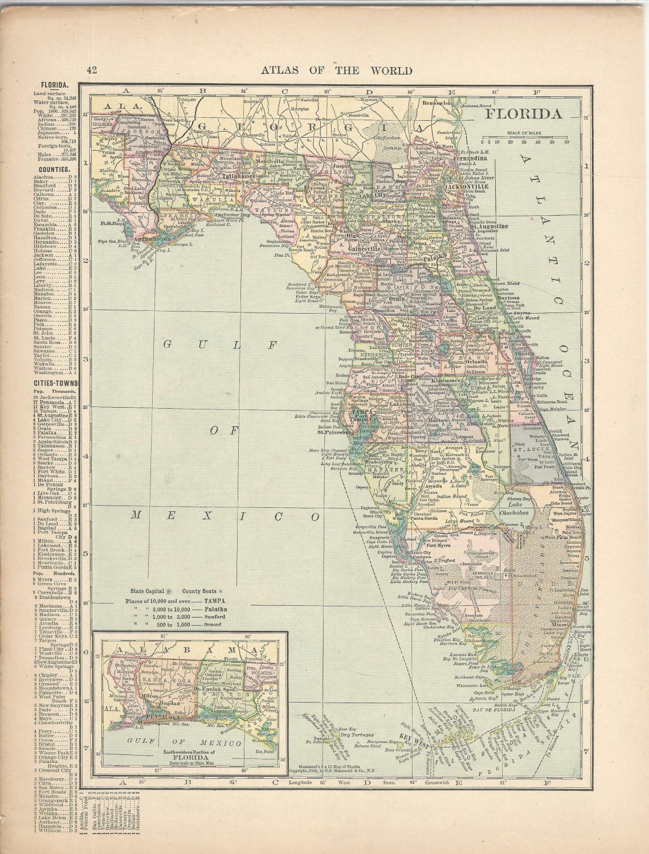 Map georgia florida on reverseom hammonds atlas of the map georgia florida on reverseom hammonds atlas of the gumiabroncs Gallery