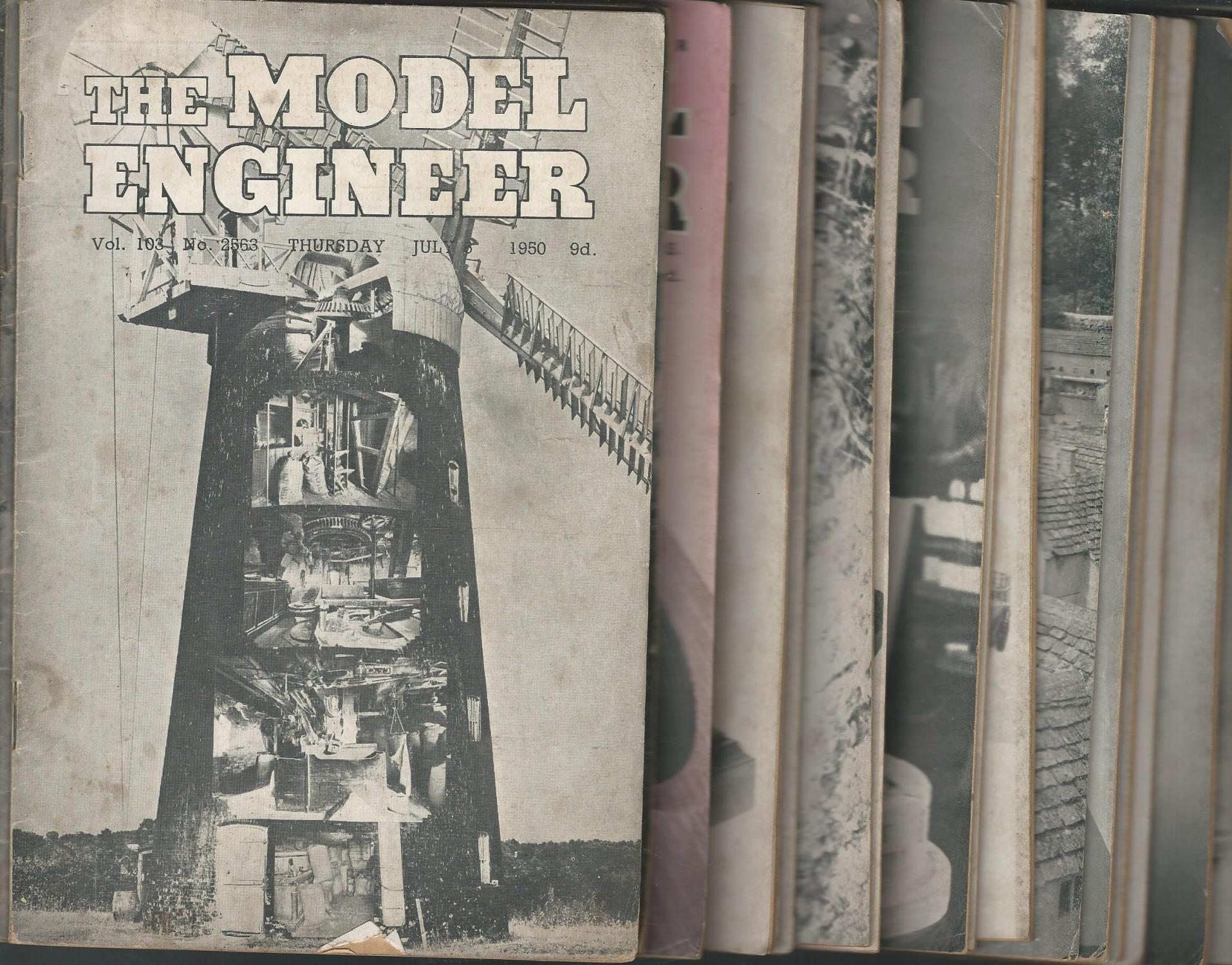 The Model Engineer : Volume 103 (26 Issues, July-December, 1950 Unknown) Percival Marshall & Co Very Good Softcover minor wear only.Steam Engines, Clocks, Racing Cars, Gears, Railroads, Trucks, Cars, Gasoline Engines, Radio-Control, Cannons, Lathes, Slide Projectors