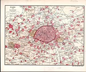 "MAP: 'Paris and Vicinity"".source Unknown: Dodd, Mead &"