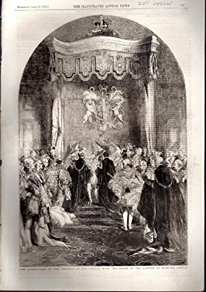 "ENGRAVING: ""The Investiture of the Emperor of the French with the order of the Garter at ..."