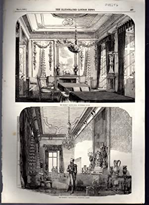 "ENGRAVING: ""The Emperor's Drawing Room & The Empress's Drawing Room, Buckingham ..."